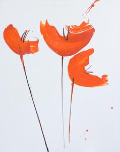 papaveri arancio verticale 67 x 84