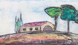 campagna toscana colorata dettaglio
