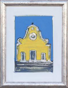 santo spirito blu e giallo graffito 60 x 80 cc