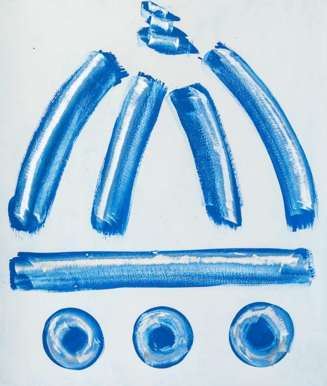 duomo graffito blu 110 x 133