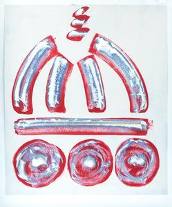 duomo graffito rosso 110 x 133