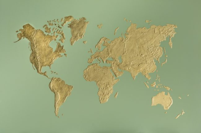 world in gold