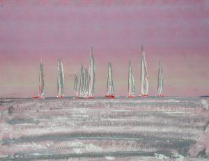 regatta al tramonto 80 x 106