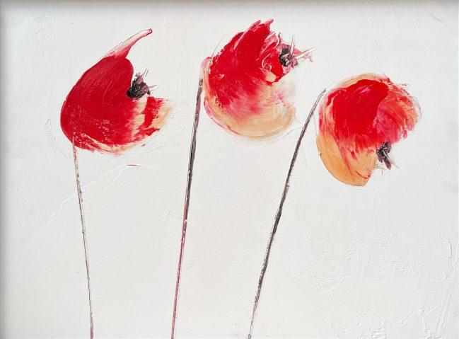 summer poppies 60 x 45