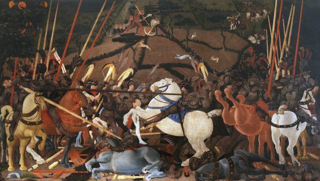 Battaglia di San Romano Uffizi Firenze 4