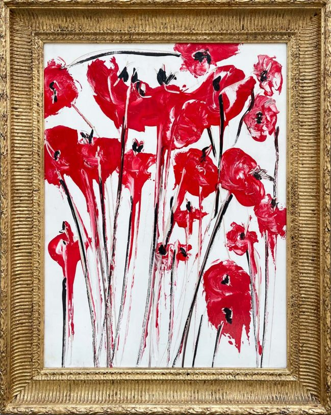 Red poppies bouquet 2