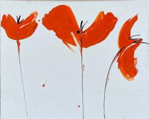 iguarnieri- poppies arancio 64 x 80 3