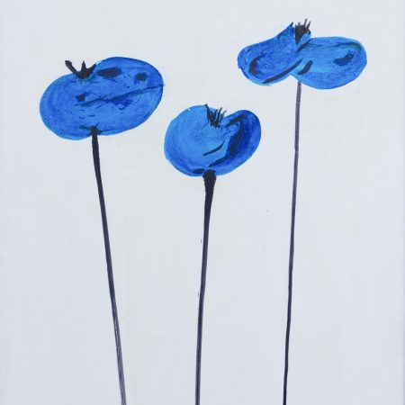 Blue Poppies Vertical II 1