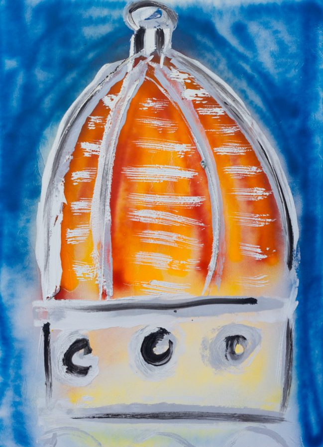 Duomo Astratto Arancio 1