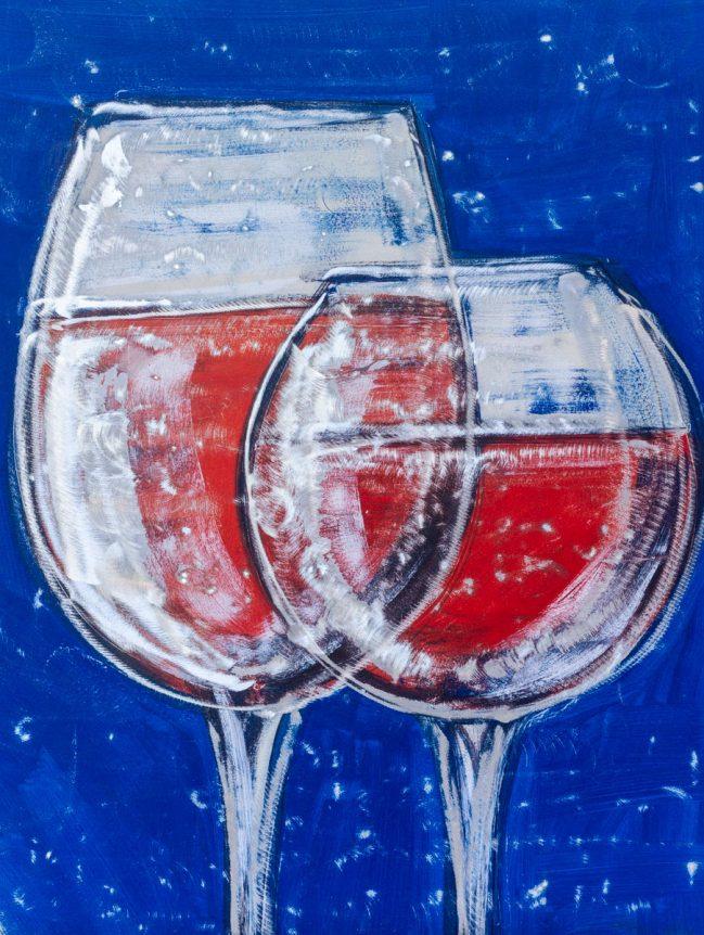 Graffito Red wine glasses 1