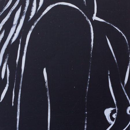 Nude woman in black 6