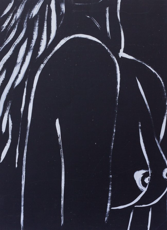 Nude woman in black 1
