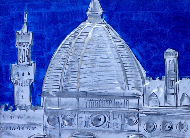 Firenze city in blue 1
